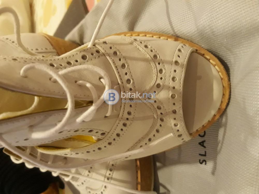 Испански сандали от естествена кожа