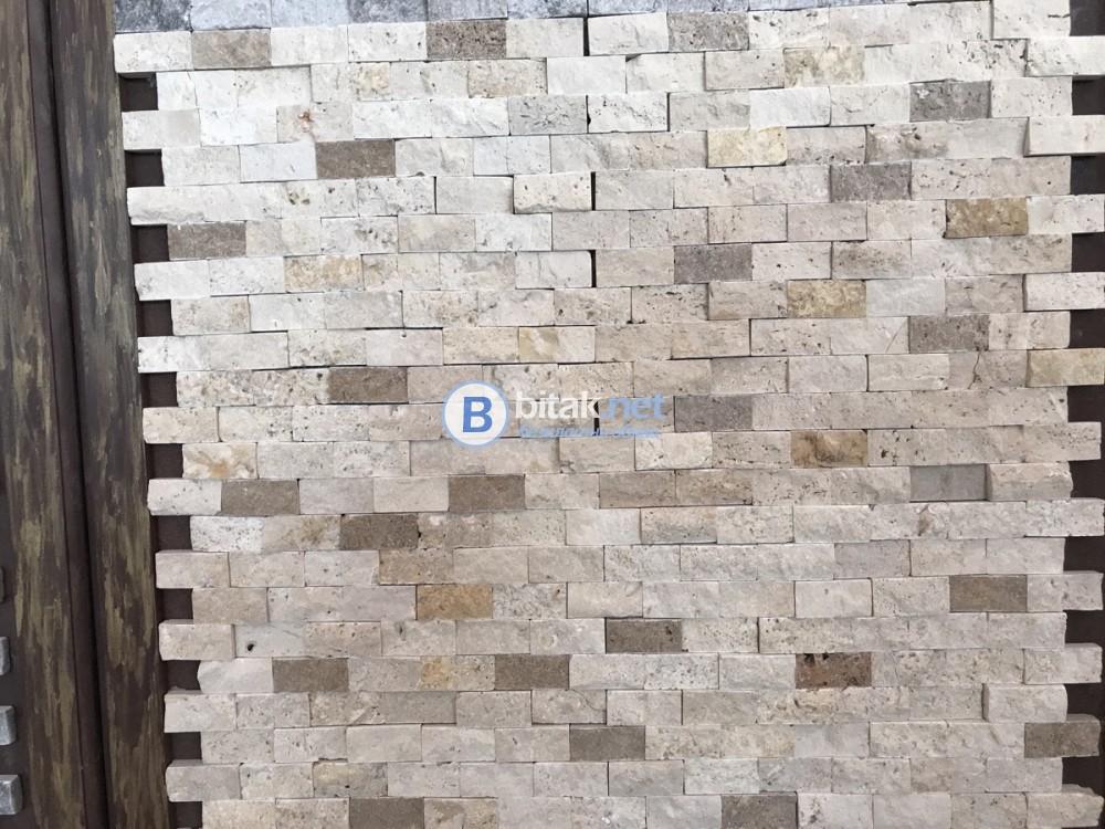 Травертин и мрамор мозайки 45 лв.м2