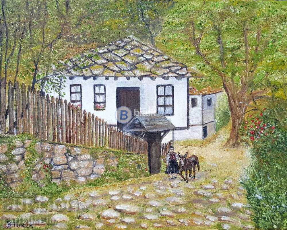 Картина, масло, На село