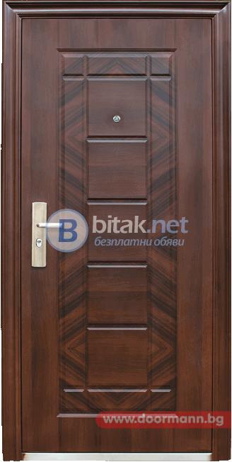 Метална входна врата 018-7