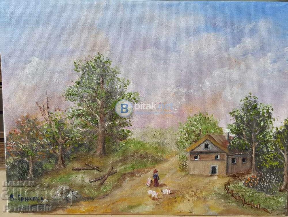 Жена с прасенца, картина