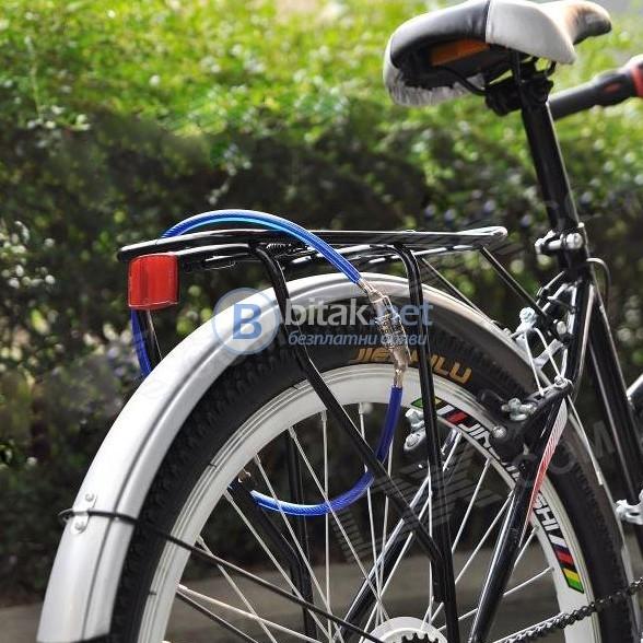 Катинар за велосипед с 4 цифрен код заключалка с шифър против кражба
