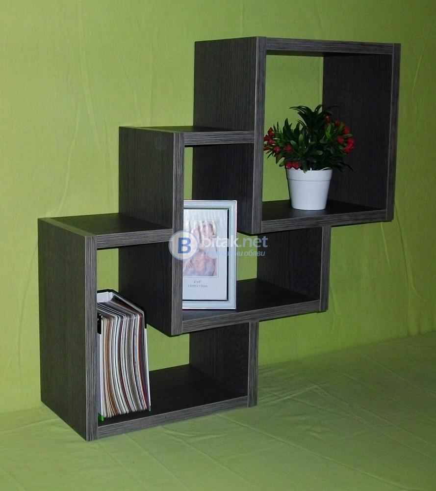 Етажерка за стена - Дъб Антрацит