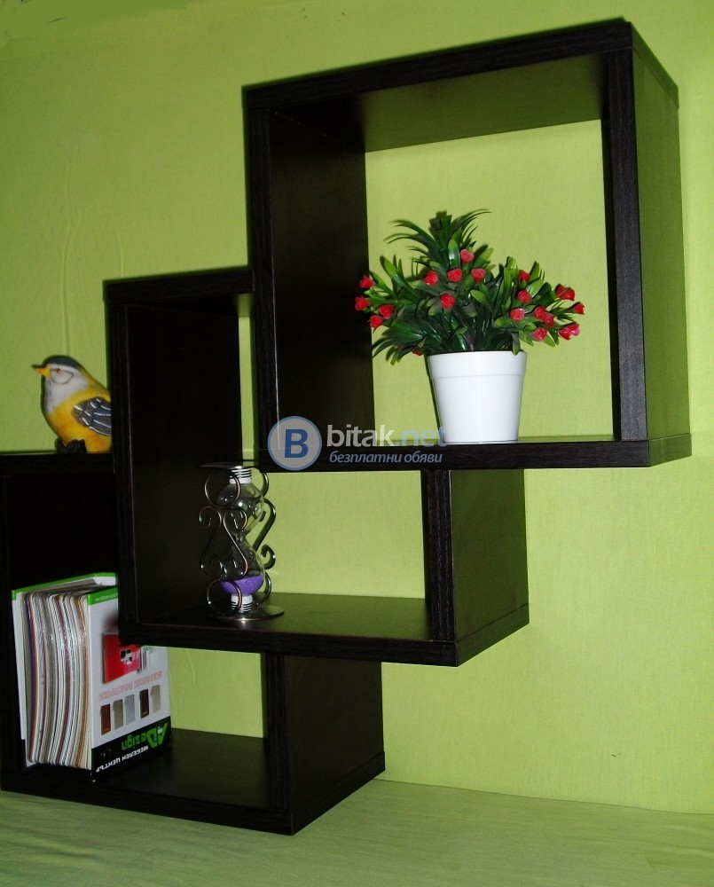 Етажерка за стена - Черна