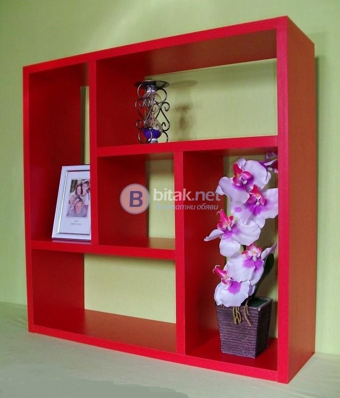 Етажерка за стена - Червена