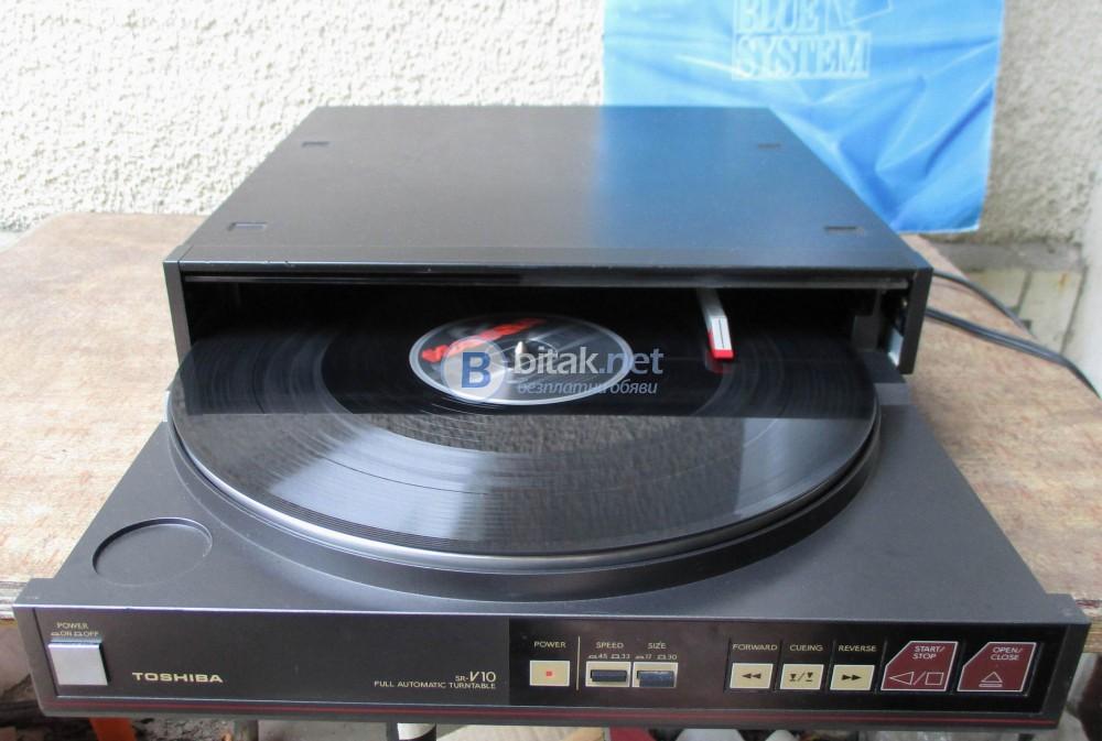 TOSHIBA SR-V10 – Рядък и трудно откриваем грамофон с тангенциално рамо.