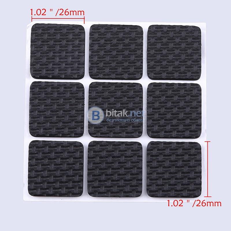 Самозалепващи подложки за мебели протектор в квадратна форма 18 бр/комплект