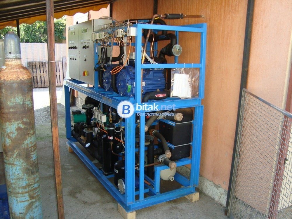 водоохлаждащ агрегат  в комбинация с термопомпа