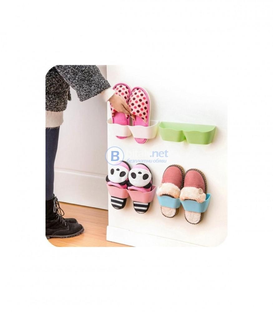 Поставка стойка за чехли или обувки за стена