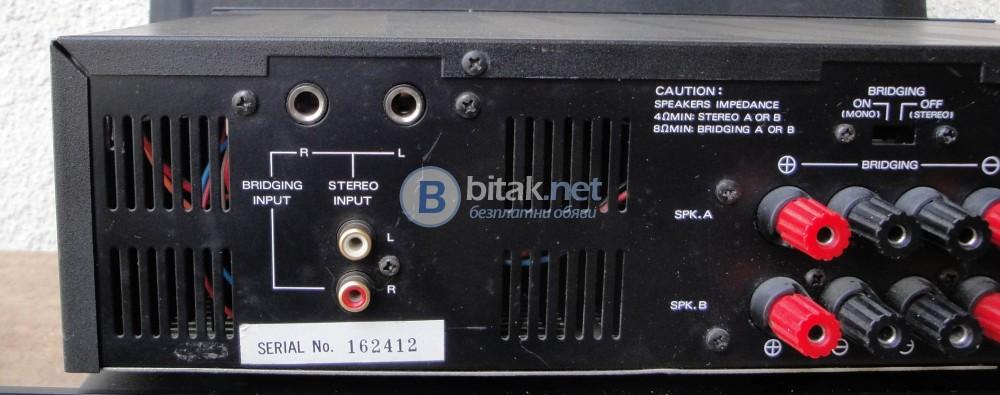 PARASOUND HCA800 II – Американско стъпало, мощно  2Х150W – на 4 ома,2Х100W – на 8 ома.