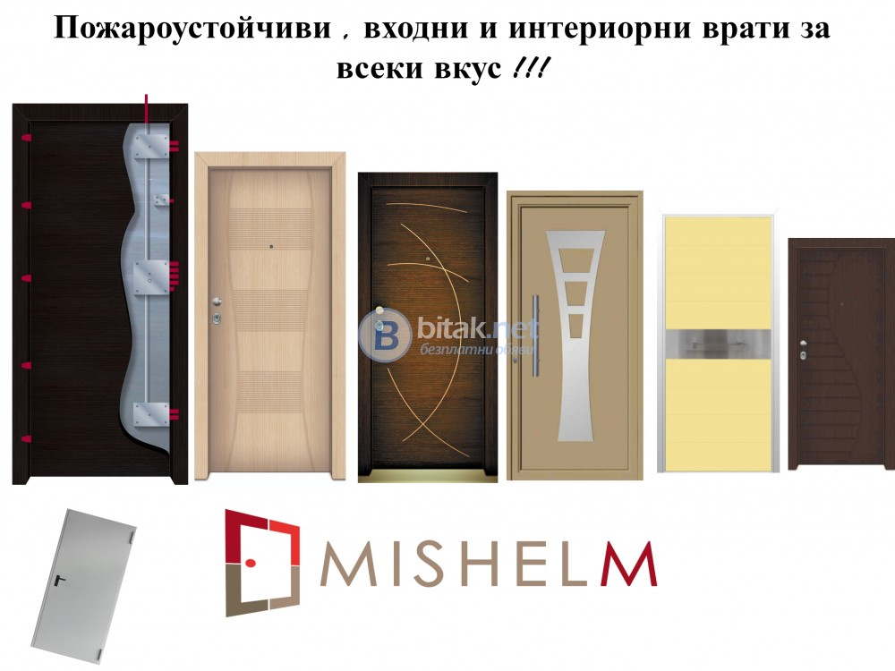 Входни и Интериорни врати Мишел-М