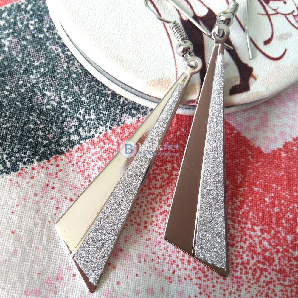 Дамски обеци Блестящ триъгълник