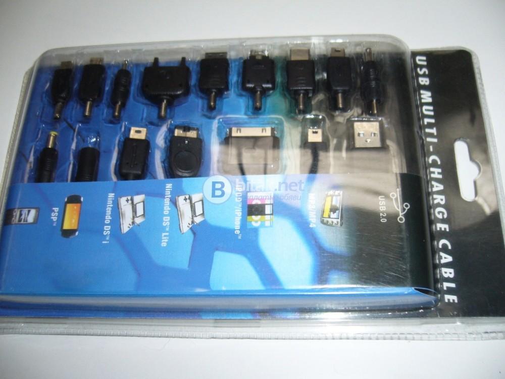 USB кабелни накрайници за зареждане на телефони, таблети, psp, game конзоли, mp3