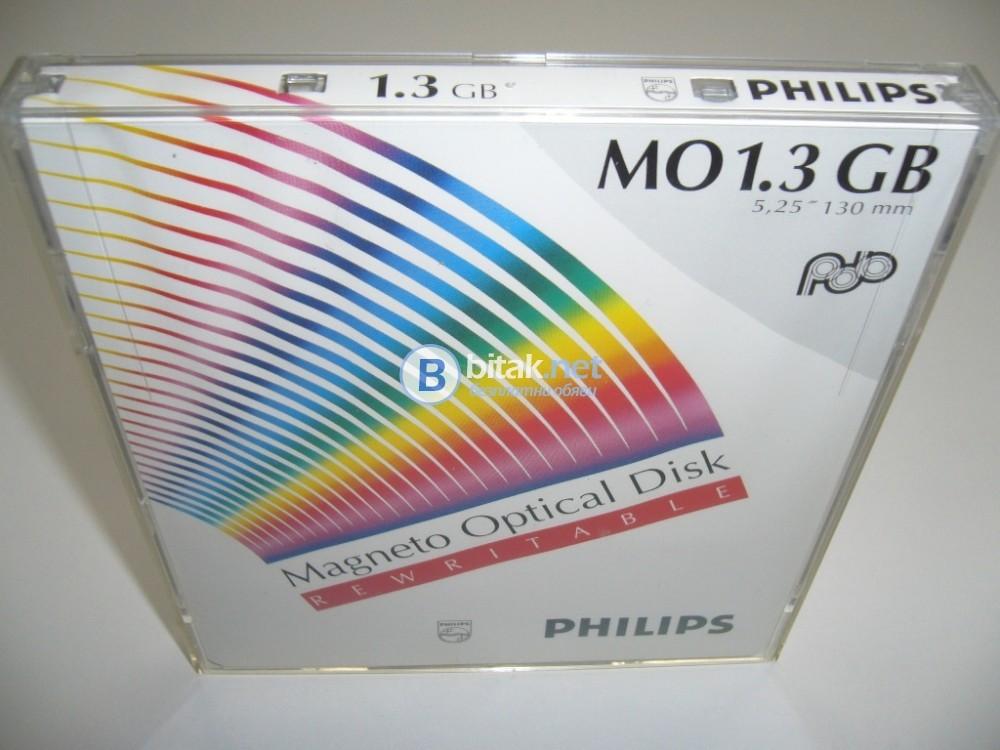 """Презаписваеми НОВИ Магнито-оптични дискове Philips 1.3GB, 5.25"""""""
