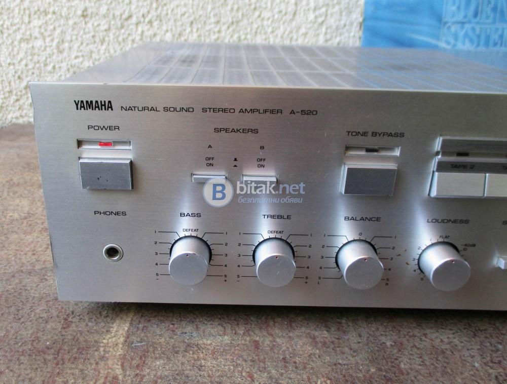 Yamaha A-520 – Качествен транзисторен стерео усилвател.