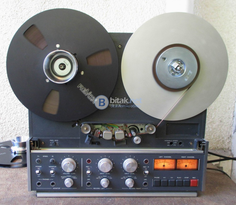 REVOX B-77 – Топ модела, студийния вариант – 2 писти,19 и 38 см.