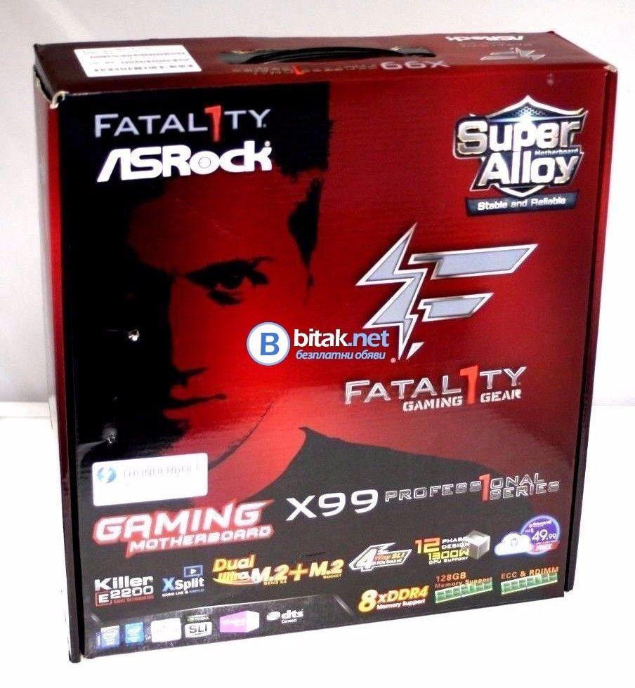 Дънна платка ASRock Fatal1ty X99 Professional Gaming i7