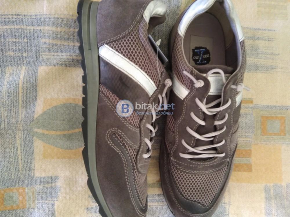 Нови висококачествени обувки маратонки в сиво 44