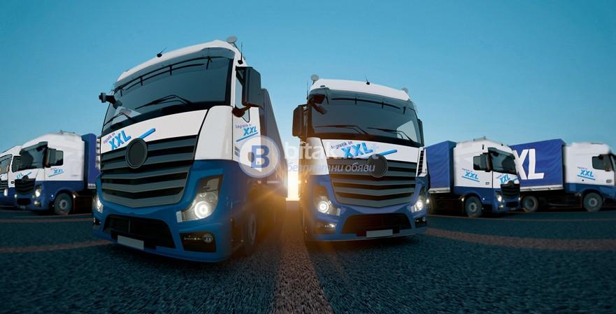Работа за камиони с брезентови ремаркета вътрешно в европа