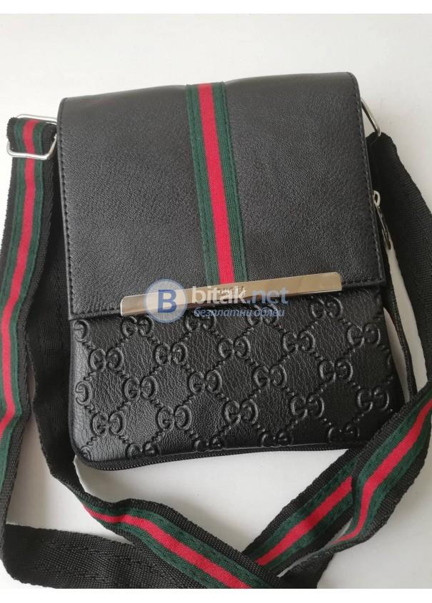 Мъжка чанта през рамо от естествена кожа - Gucci