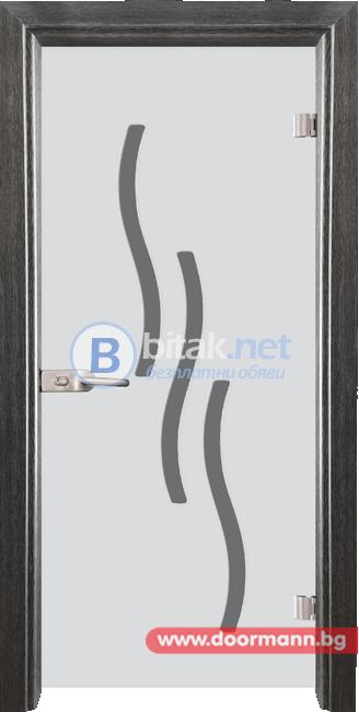 Стъклена врата модел Sand 14-2