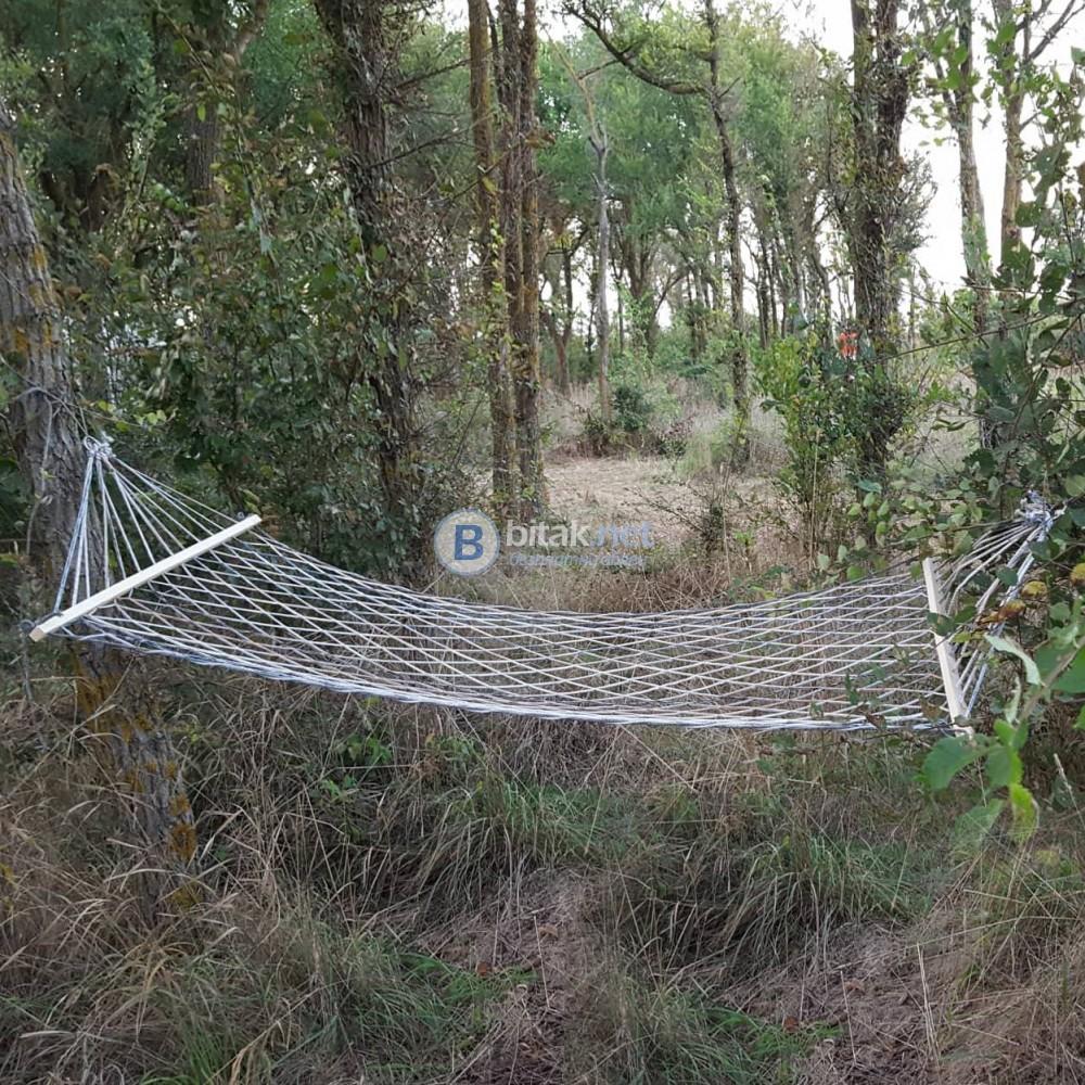 Нов плетен хамак мрежа въжен хамак за градина къмпинг