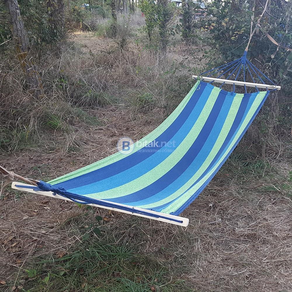 Нов хамак от плат хамак люлка за къмпинг градина 200x80см