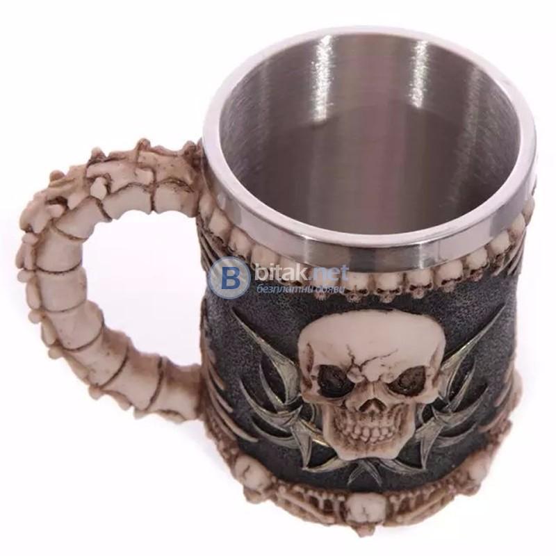Масивна 3D чаша череп нестандартен подарък халба забавна чаша за бира
