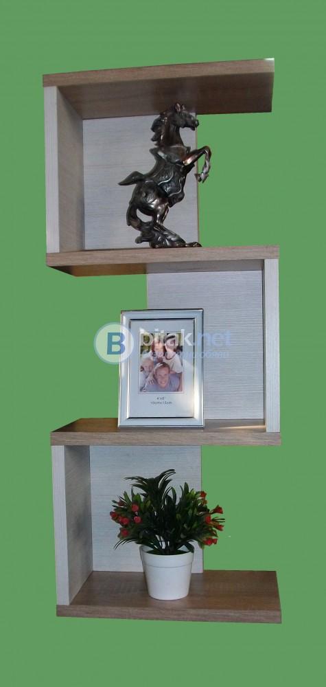 Етажерка за стена - Дъб Сонома и Файнлайн