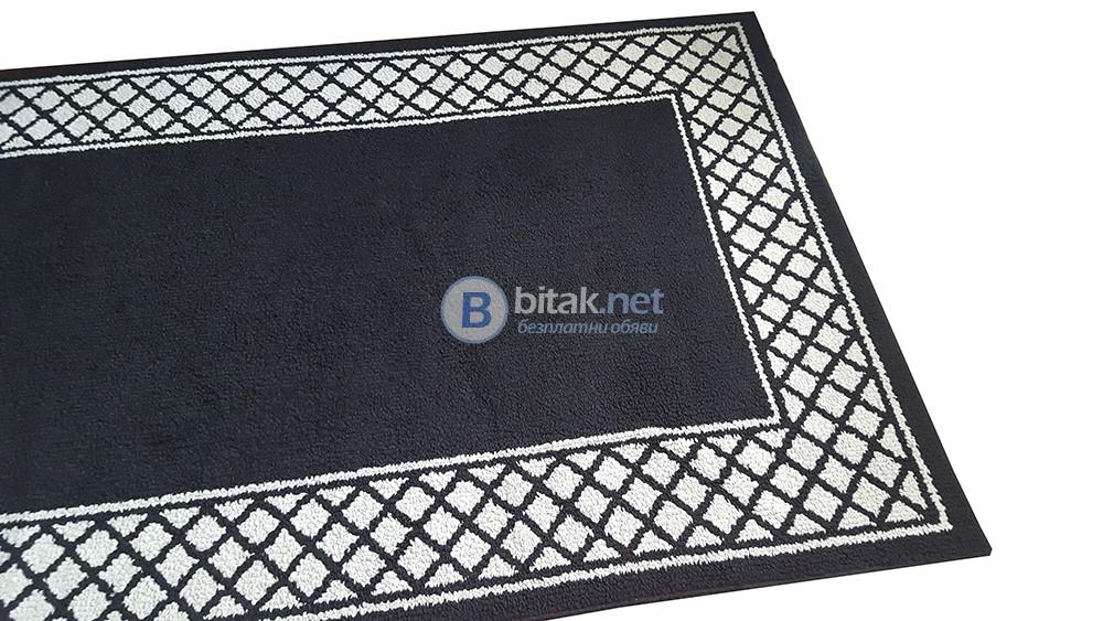 Килим за хол 157x248см втора употреба килим в черно и бяло