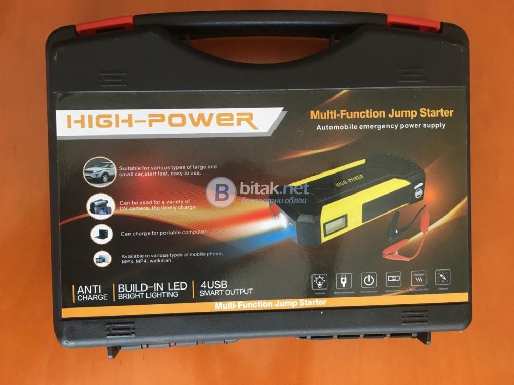 Авариен стартер за автомобил Power bank buster jump starter бустер