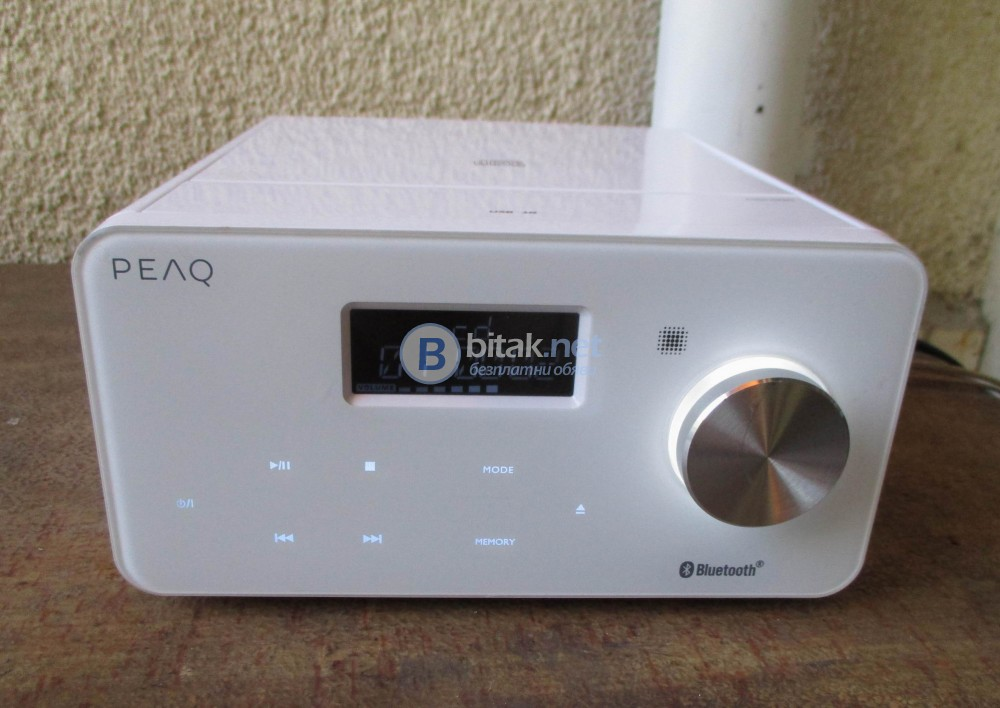 PEAQ PMS200BT-W – Микро системка 2 Х 10 вата с CD,Tuner,USB,Card,Bluetooth,AUX.