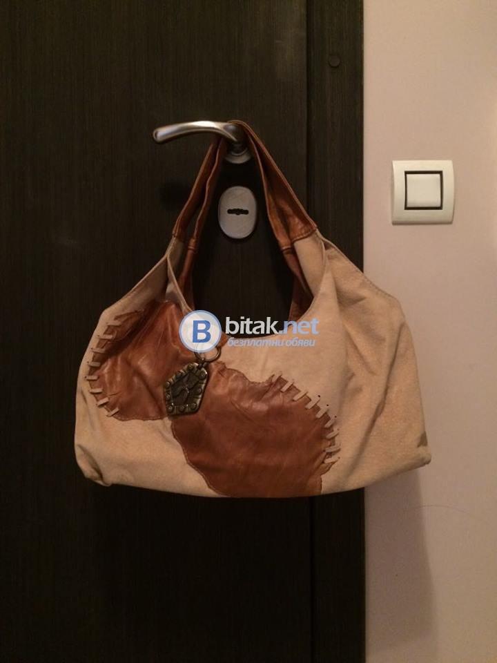 Дизайнерска дамска кожена чанта