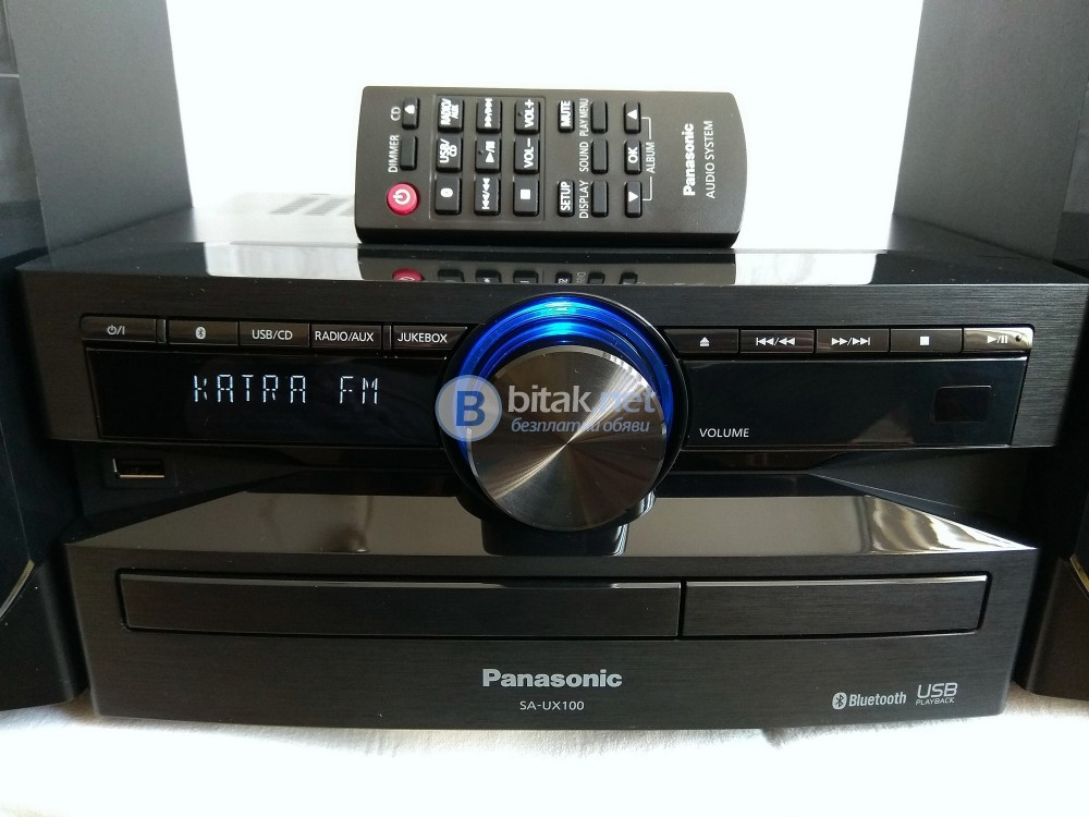 Panasonic SC-UX100, 2х150/75 вата, CD/USB/Bluetooth , RDS тунер, дистанционно, като нова