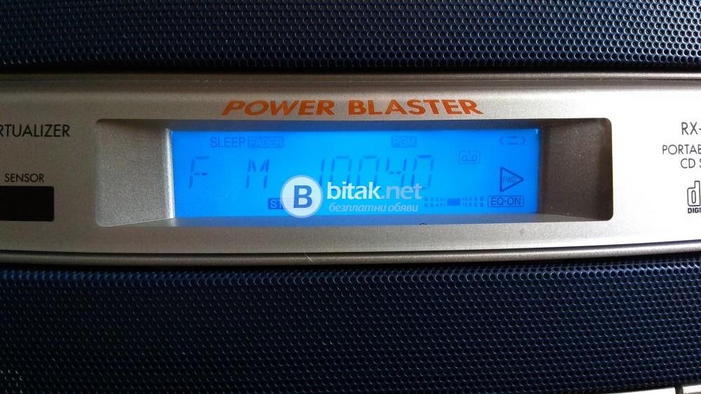 Panasonic RX-ED50, преносима система (буумбокс), CD плеър, цифров тунер, 2 касети и AUX вход