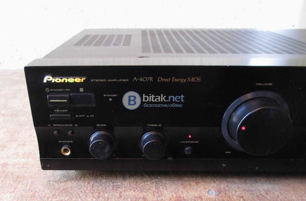 PIONEER A-407R – Direct energi Mos-Fet amplifier.