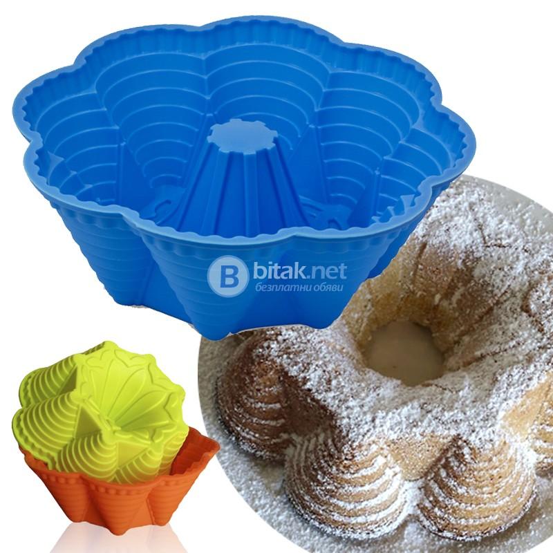Силиконова форма за кекс Осем Кули форма за печене