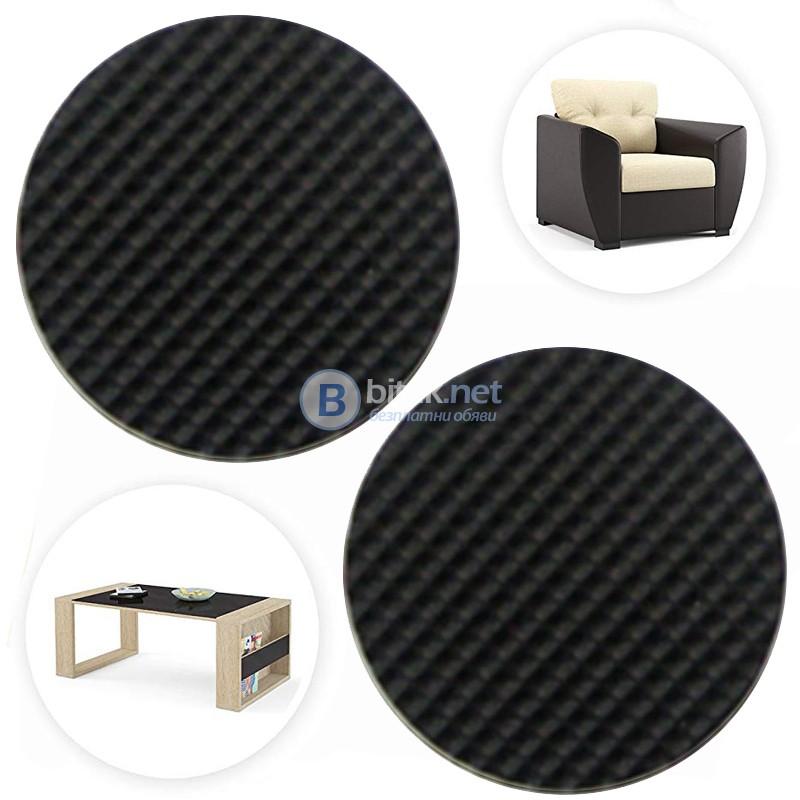 Самозалепващи подложки за мебели голям размер 8.5см кръгла форма 2 бр/комплект