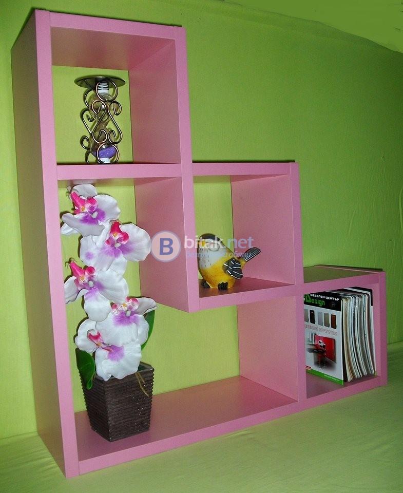 Етажерка за стена - Розова