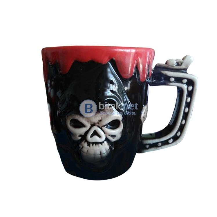 Керамична чаша Пират череп забавна чаша за подарък за Хелоуин 250ml