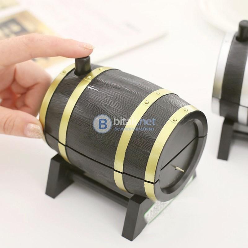 Автоматичен диспенсър кутия за клечки за зъби Буре декоративна поставка