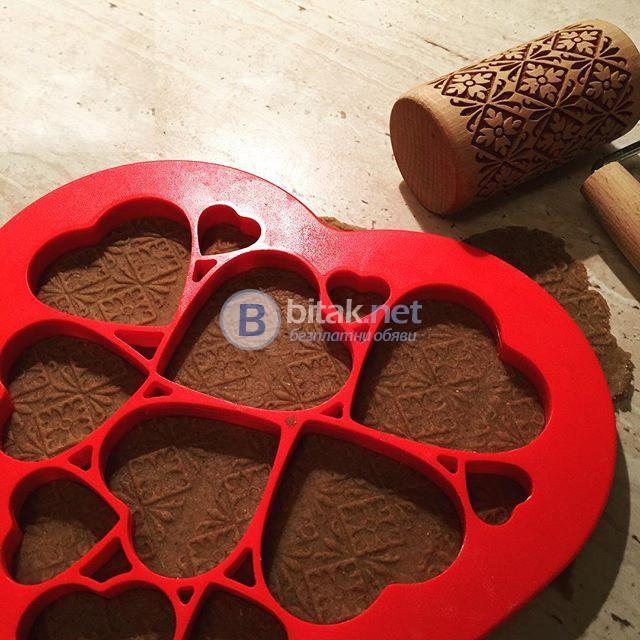 Форма за сладки 12 сърца резец за фондан тесто формички за бисквити курабии