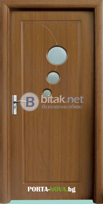 Интериорна HDF врата модел 017