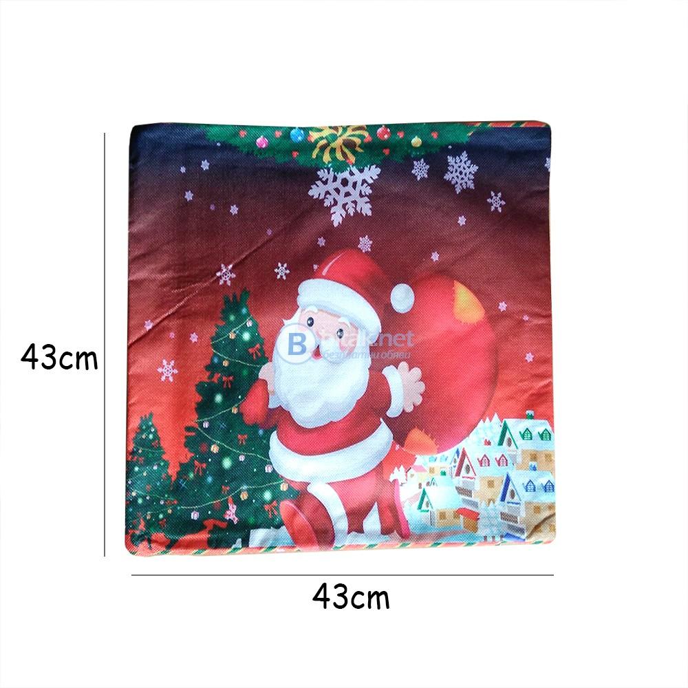 Коледна декоративна калъфка за възглавница Дядо Коледа 43x43cm