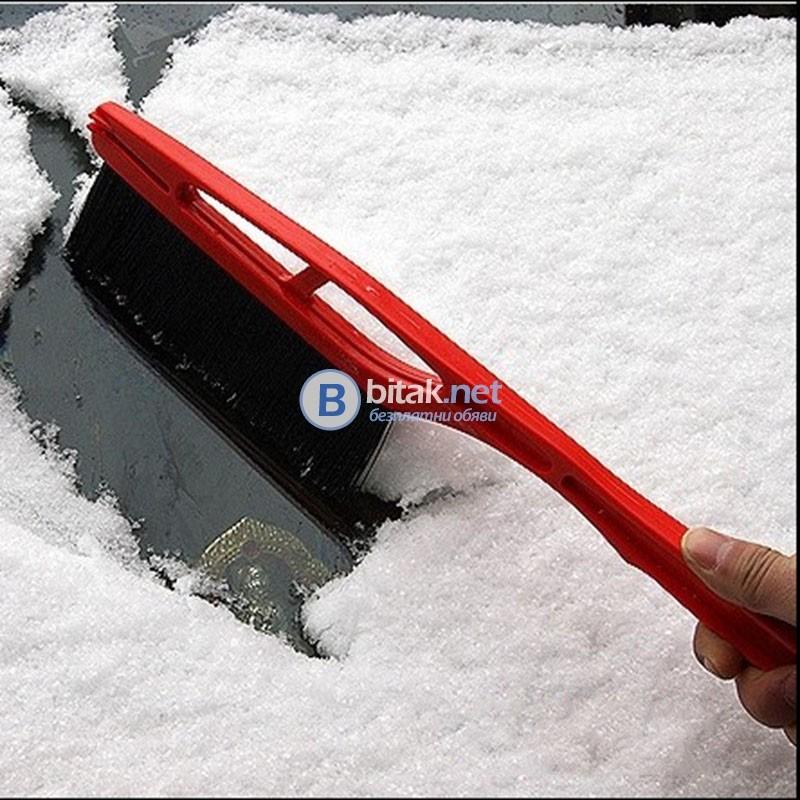 Стъргалка за лед с вградена четка за автомобил