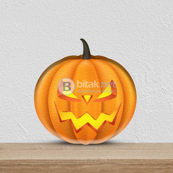 Декорация от стиропор за Хелоуин - тикви декорирани с принт