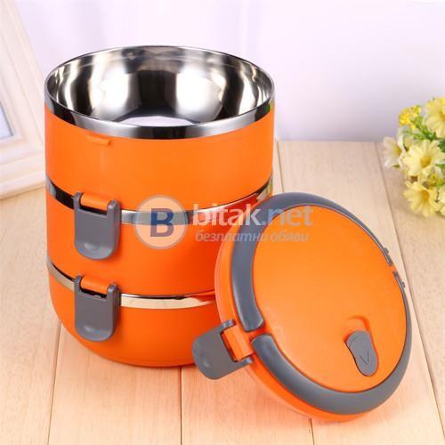 Термо кутия за обяд на етажи термос канчета за храна 1.4L и 2.1L