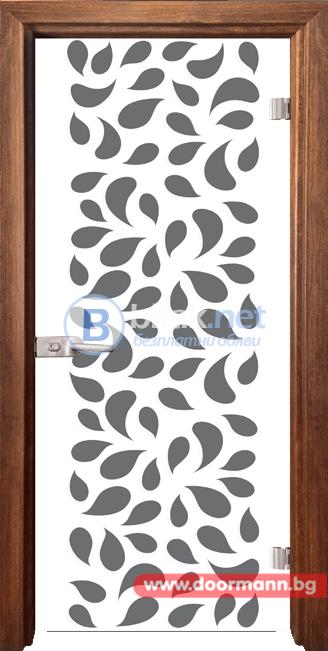 Стъклена врата модел Print 13-1