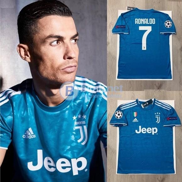 Кристияно Роналдо 7 - Ювентус гостуваща синя тениска