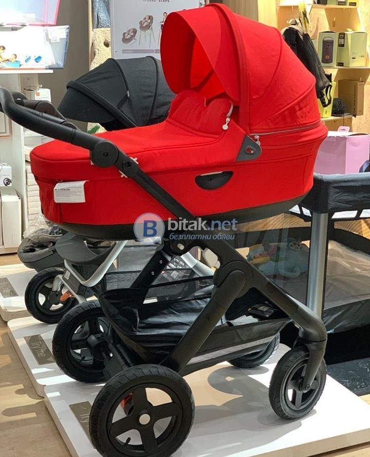 Stokke Xplory V6 с кош за новородено
